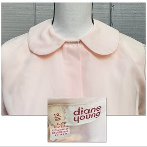 Vtg 60's Diane Young Blouse